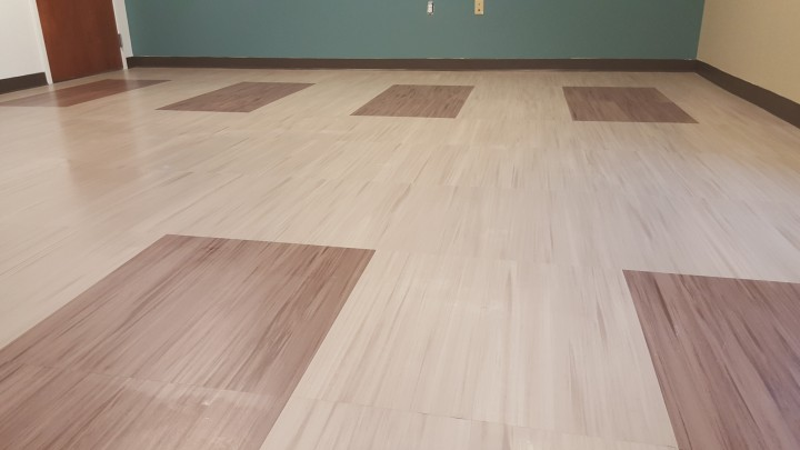 Before, During & After Post Construction VCT Floor Cleaning in Cleveland, OH